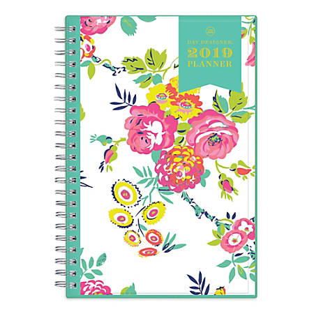 "Blue Sky™ Day Designer® CYO Weekly/Monthly Planner, 8"" x 5"", Peyton White, January to December 2019"