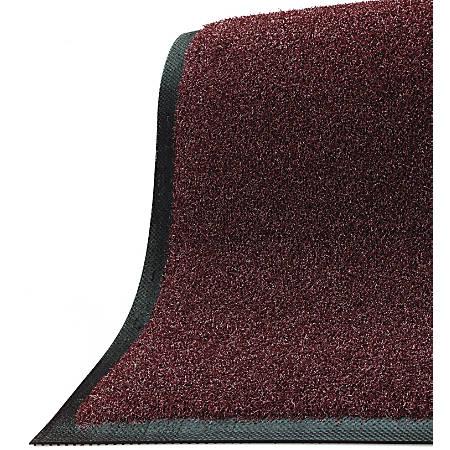 """M + A Matting Brush Hog Floor Mat, 48"""" x 240"""", Burgundy Brush"""