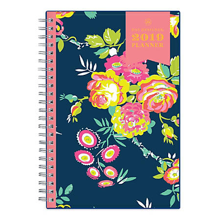 "Blue Sky™ Day Designer® CYO Weekly/Monthly Planner, 8"" x 5"", Peyton Navy, January to December 2019"
