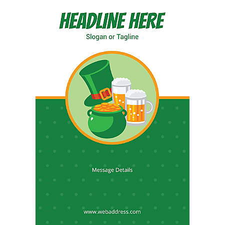 Custom Poster, Vertical, Gold Pot And Beer