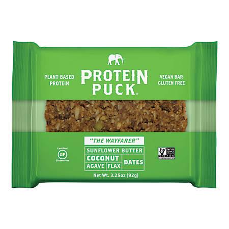 Protein Puck Sun Butter, Coconut, Almond Paleo Protein Bars, 3.25 Oz., Box of 16