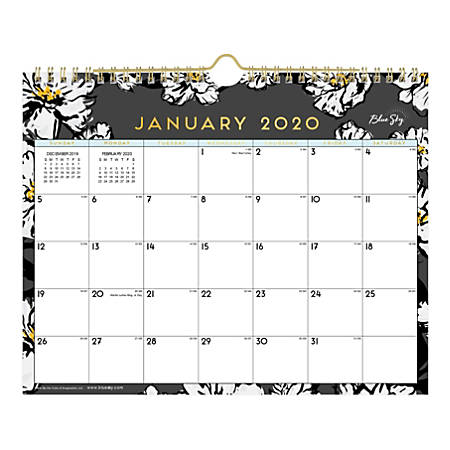 Blue Sky™ Monthly Wirebound Wall Calendar, 11