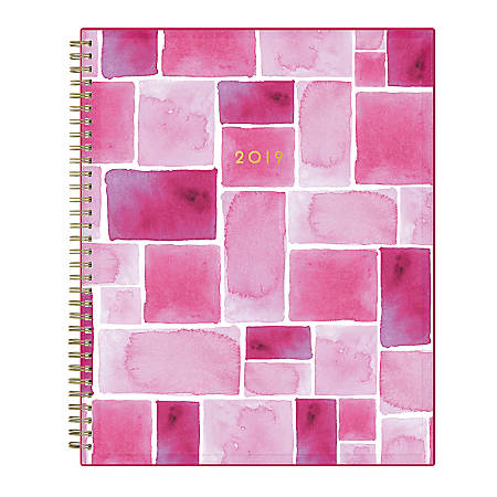 """Blue Sky™ CYO Planner, Weekly/Monthly, 8 1/2"""" x 11"""", Bauhaus, January to December 2019"""