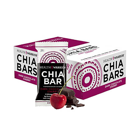 Health Warrior® Chia Bars, Dark Chocolate Cherry, 0.88 Oz, Box Of 15
