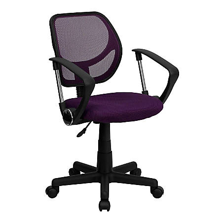 Flash Furniture Mesh Low-Back Swivel Task Chair, Purple/Black