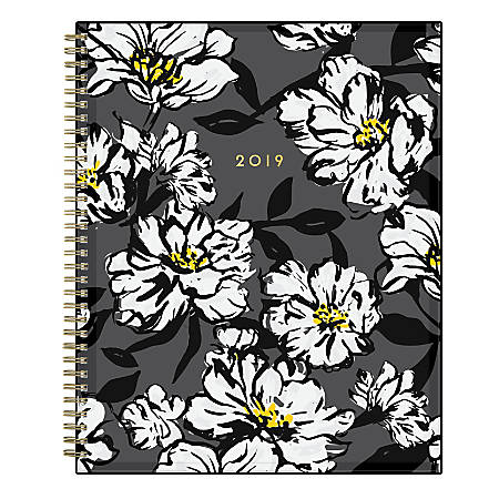 """Blue Sky™ CYO Planner, Weekly/Monthly, 8 1/2"""" x 11"""", Baccara Dark, January to December 2019"""
