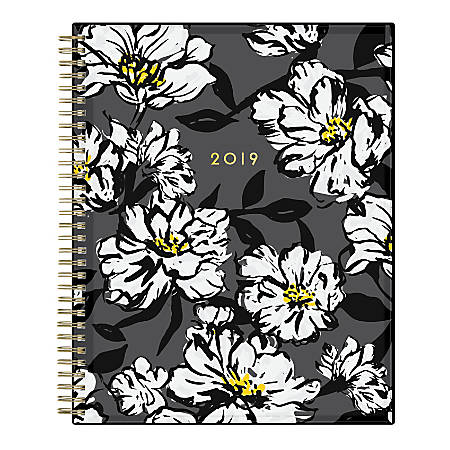 """Blue Sky™ CYO Planner, Monthly, 8"""" x 10"""", Baccara Dark, January to December 2019"""