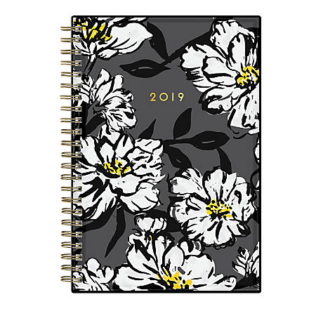 """Blue Sky™ CYO Planner, Weekly/Monthly, 5"""" x 8"""", Baccara Dark, January to December 2019"""