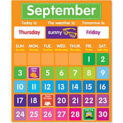 Color Your Classroom Calendar Bulletin Board