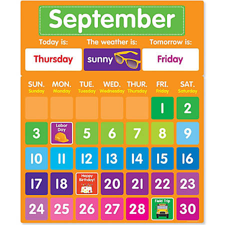 Color Your Classroom Calendar Bulletin Board Set, Assorted Colors