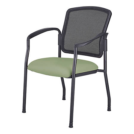 WorkPro® Spectrum Guest Chair With Arms, Olive/Black