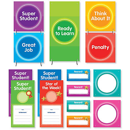 Color Your Classroom Behavior Clip Mini Bulletin Board Chart, Assorted Colors