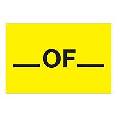 Tape Logic Safety Labels of Rectangular