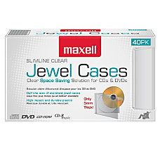 Maxell CD 365 Slimline Jewel Cases
