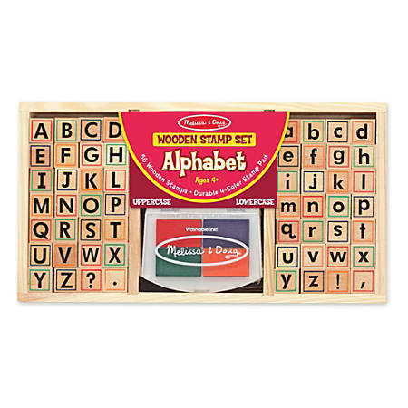 Melissa & Doug Alphabet Stamp Set, Kindergarten To Grade 2