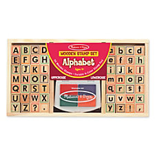 Melissa Doug Alphabet Stamp Set Kindergarten