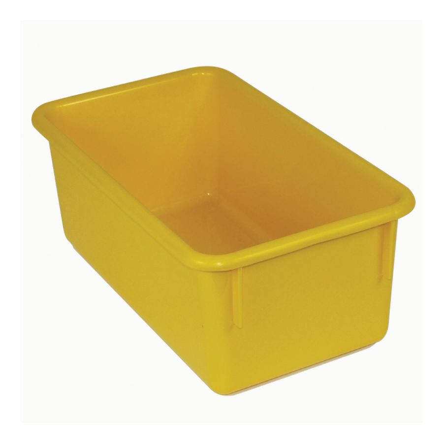 Stowaway Storage Container No Lid 5 12 H x 8 W x 13 12 D Yellow Pack