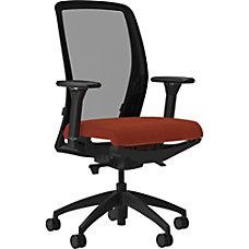 Lorell MeshFabric High Back Chair Orange