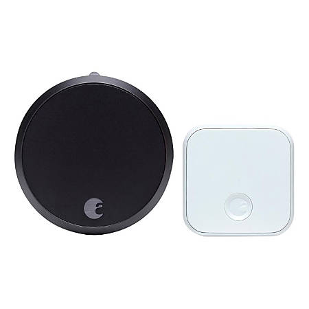 August Smart Lock Pro And Connect, Dark Gray