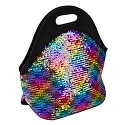 Office Depot Sequined Lunch Tote Rainbow