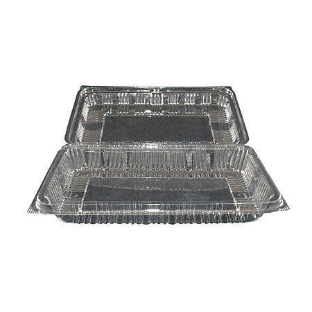 Hawaii's Finest Products Food Service Containers, Large, Clear, Pack Of 100 Containers