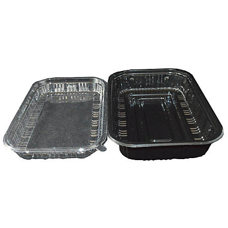 Hawaii's Finest Products Food Containers, Medium/Large, Black/Clear, Pack Of 400 Containers