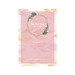 Window Decal Vertical Pink Leaves And