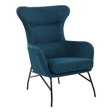 Ave Six Enzo High-Back Arm Chair, Azure/Black