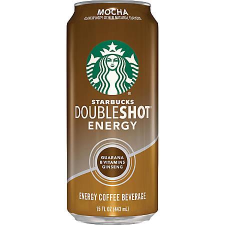 Starbucks Doubleshot Mocha Energy Drink - Ready-to-Drink - Mocha Flavor - 15 fl oz (444 mL) - 12 / Carton