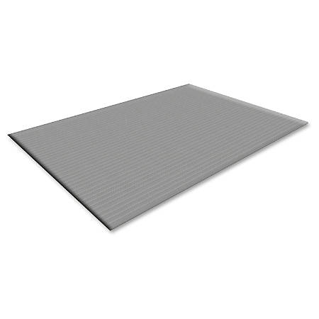 "Guardian Floor Protection Air Step Anti-Fatigue Mat - Indoor - 60"" Length x 36"" Width x 0.37"" Thickness - Polypropylene - Black"