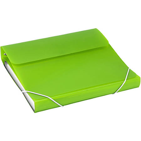 """Samsill Duo 2-In-1 Poly 7-Pocket Organizer/Ring Binder, 1"""" Rings, Letter Size, Green"""