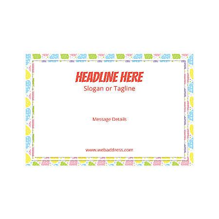 Custom Poster, Horizontal, Easter Egg Border