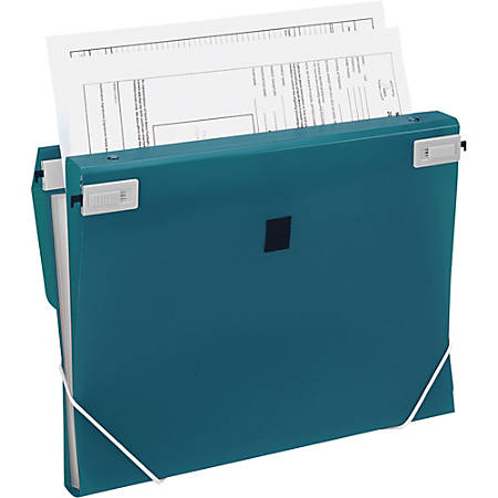 """Samsill Trio 3-In-1 Polypropylene Binder Organizer, 1"""" Rings, Letter Size, Turquoise"""