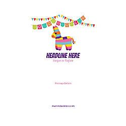 Custom Banner Vertical Cinco de Mayo