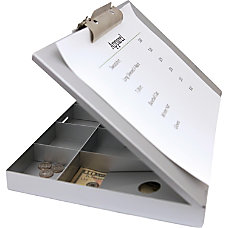 Saunders Cash Box Clipboard Heavy Duty