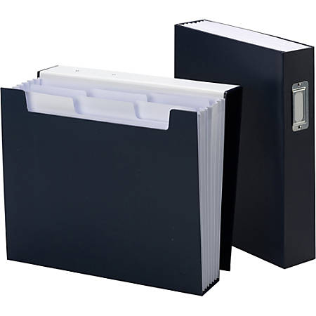 "Smead Bookshelf Organizers with SuperTab - Letter - 8 1/2"" x 11"" Sheet Size - 6 Pocket(s) - Monaco Blue - 1 Each"