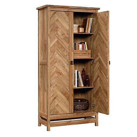 "Sauder® Cannery Bridge Storage Cabinet, 72""H x 35-1/4""W x 16-1/4""D, Sindoori Mango"