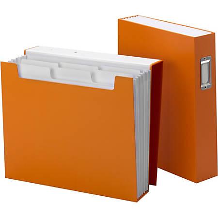 "Smead Bookshelf Organizers with SuperTab - Letter - 8 1/2"" x 11"" Sheet Size - 6 Pocket(s) - Orange - 1 Each"