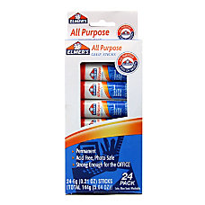 Disappearing Glue Stick 021 oz 24Pack