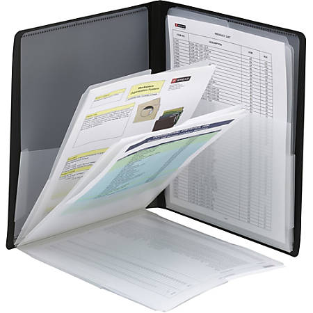 "Smead Organized UP Multi-Pocket Organizer - Letter - 8 1/2"" x 11"" Sheet Size - 50 Sheet Capacity - 8 Pocket(s) - Polypropylene - Black - 1 Each"
