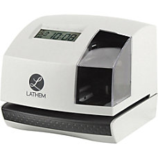 Lathem 100E Electronic Time Clock Biometric