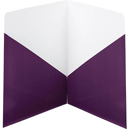 Smead Classic Two-Pocket Folders - 2 Pocket(s) - Purple - 25 / Box