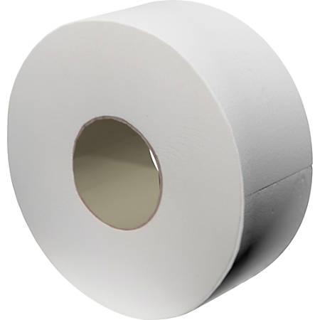"""Livi Jumbo Bath Tissue - 2 Ply - 3.30"""" x 850 ft - White - Fiber - Embossed, Soft - For Bathroom, Office Building, Restaurant - 12 / Carton"""
