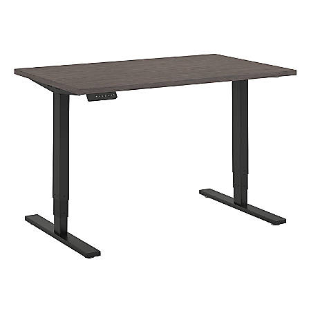 "Bush Business Furniture Move 80 Series 48""W x 30""D Height Adjustable Standing Desk, Cocoa/Black Base, Premium Installation"