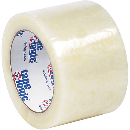 "Tape Logic® #7651 Cold Temperature Tape, 3"" Core, 3"" x 110 Yd., Clear, Case Of 24"