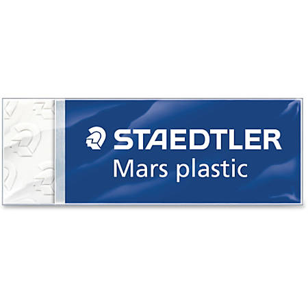 """Staedtler Mars Plastic Eraser - White - Plastic - Lead Pencil - 2.5"""" Width x 0.5"""" Height x 0.9"""" Depth x - 1 / Each - Latex-free, Non-smudge, Smear Resistant, Tear Resistant"""