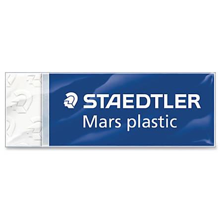 "Staedtler Mars Plastic Eraser - Lead Pencil Eraser - Latex-free, Non-smudge, Smear Resistant, Tear Resistant - Plastic - 0.5"" Height x 2.5"" Width x 0.9"" Depth - 1/Each - White"