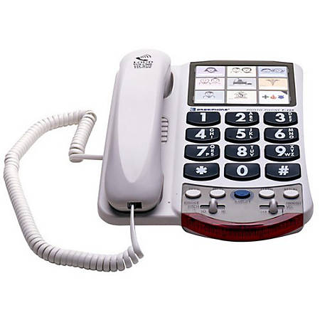 Clarity P300 Standard Phone - 1 x Phone Line - Hearing Aid Compatible