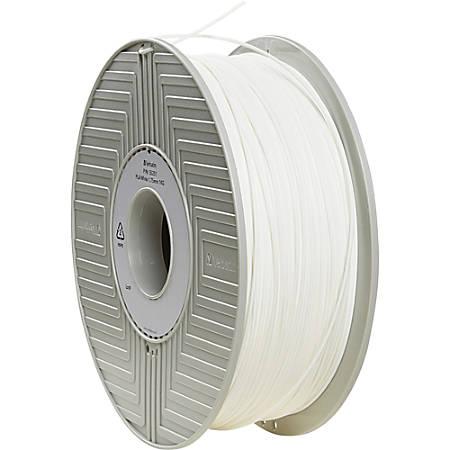 Verbatim PLA 3D Filament 1.75mm 1kg Reel - White - White - 1.75mm