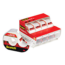 Scotch Transparent Tape In Transparent Dispenser
